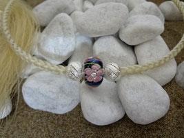 Collier aus Pferdehaar mit schönen Perlen