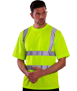 Two Band & Brace Hi Vis T-Shirt bedrucken
