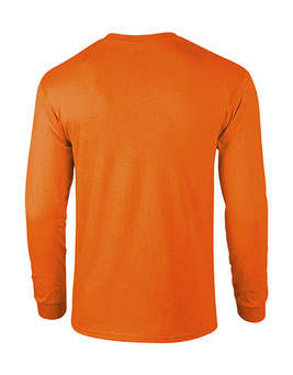 Langarm T-Shirt Ultra Cotton™ Safety Orange bedrucken