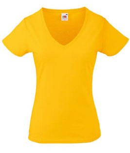 Valueweight V-Neck T Lady-Fit bedrucken