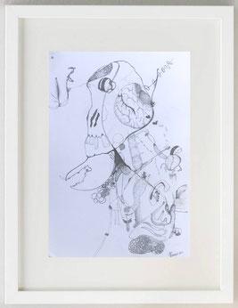 """BRAIN DEEP"", 2020, Acrilico, 20 x 30"