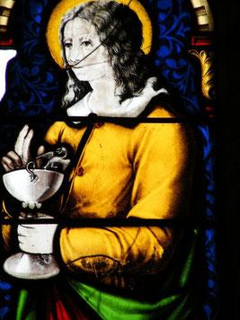 Saint Jean, vitrail de la chapelle des Fontmorand