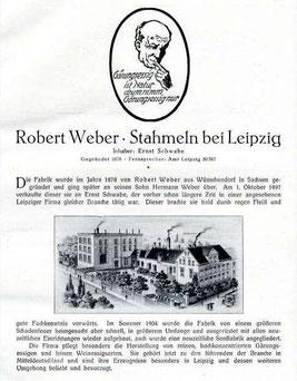 Bild: Stahmeln Wünschendorf Erzgebirge Weber