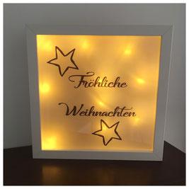LED Bilderrahmen, LED mit verschiedenen Texten, LED Bilderrahmen - Fröhliche Weihnachten