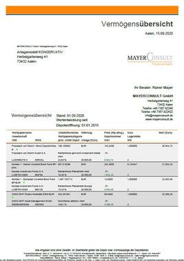 Vermögensübersicht bei MAYERCONSULT - Ihr freier Finanz- und Versicherungsmakler in Aalen