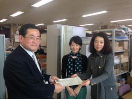 左:教育委員会 古閑教育次長   右:瀬田美樹