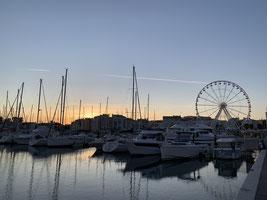 Abendstimmung im Hafen von Cap D'Agde