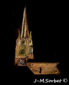 Jean-Michel Sorbet Eglise de Marciac de nuit