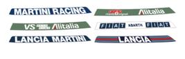 adesivi parasole rally lancia martini racing fiat delta pubblimais