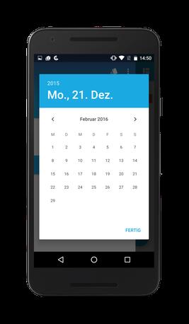 Bild: Jimdo-App Android Blog-Kalender