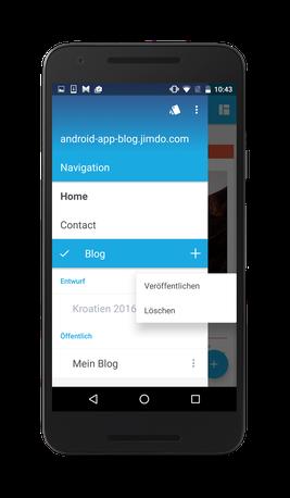 Bild: Jimdo-App Android Status ändern