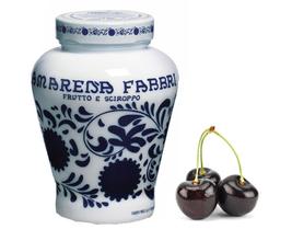 "Amarena Fabbri ""cereza negra"" (7,50€ und); tarro de 600gr (15,00€)"
