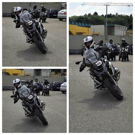 Motorradfahrschulen im Kanton Luzern, mit dem Motorfahrlehrer Dani Schär. Kurventechnik, drücken legen hängen, für sicheres befahren einer Kurve.