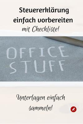 Checkliste #Steuererklärung vorbereiten #steuer #ordnungschaffen