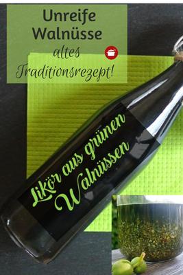 Walnusslikör aus unreifen grünen Walnüssen #walnüsse #likör #diygeschenke #thermomixrezepte