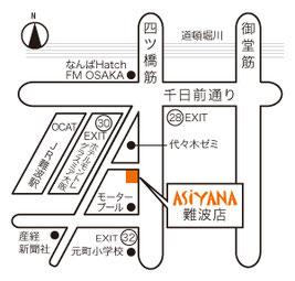 インド料理アシヤナ 難波店 地図