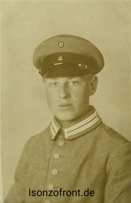 Der Telefonist August Kaldenhoff vom Fernsprechzug 1535 in der Uniform des Telegrafen Bataillons Nr. 1. Sammlung Isonzofront.de