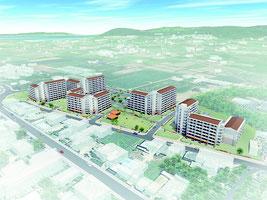 建て替え後の新川団地のイメージ図