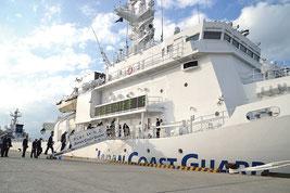 石垣海上保安部に配備された特定運用巡視船「いらぶ」=11日、石垣港