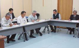 民間企業3社のプレゼンテーションが行われた=18日、企画財政課提供