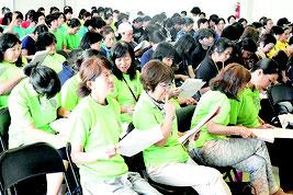 竹婦連研修大会が行われた=28日午前、離島振興総合センター