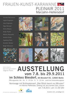 Plakat für die Ausstellung im Schloss Biesdorf
