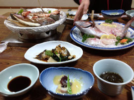 民宿クボタの料理
