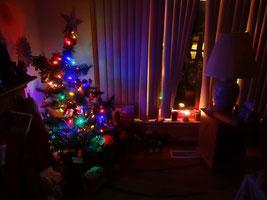 Idylle mit Weihnachtsbaum