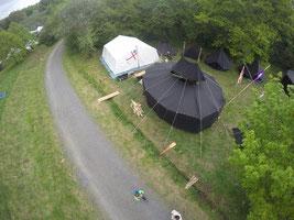 Luftbild unseres Lagerplatzes in Westernohe / Pfingsten 2016