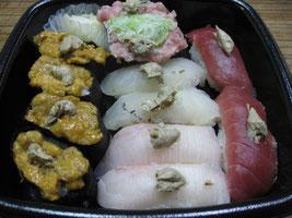寿司をも引き立てる オニクルミ