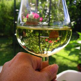 Frankenwein über Grenzen hinaus Bekannt  Aus eine kleine Traube - ein riesiger Genuss! Auch im Landgasthof Bieger.