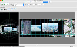 User Interface of Hugin photos Panorama Stitcher