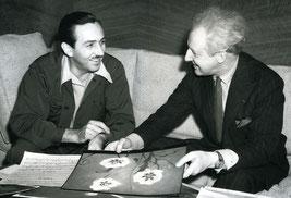 Walt Disney y Leopold Stokowski