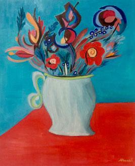 Salvatore Macrì, vaso di fiori (olio su tela)