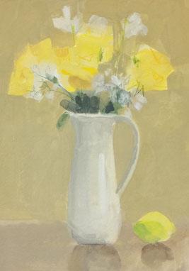 黄色の花束 SM 不透明水彩