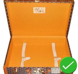 buy goyard interior suitcase nine yellow woven goyardine