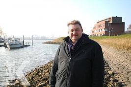 Ruud Lammers bij de jachthaven van Papendrecht. Foto: Bert Bons