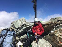 Zinalrothorn, Nordgrat, Gipfel
