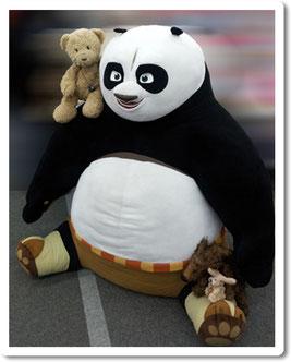 Kasmir, Cäsar und Fred mit Kung Fu Panda