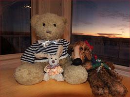 Kasimir, Cäsar und Fredi ausgehfein für Silvester in Canada
