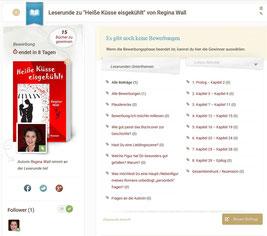Leserunde, Lovelybooks, Heiße Küsse eisgekühlt, Regina Wall