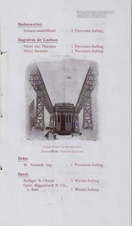715-002 Abbildung in einem Werbeprospekt. Im Besitz der Familie Lang, zur Verfügung gestellt von der OGS Seebach