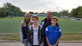 Familie Kilb - Wolke, Maxi, Hans und Robin (v.l.)