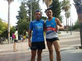 De izq. a der. Manuel Serrano y Manuel Jiménez.