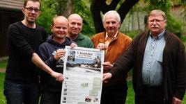 Sie freuen sich auf das Bezirksfest in Landsberg: Jürgen Lindner, Mathias Fischer, Konrad Schreiber, Rudolf Gast (Bezirksvorsitzender) und Karl Baur vom Ortsverband der Gehörlosen Weilheim-Landsberg