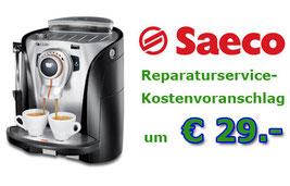 Saeco Reparaturservice Kostenvoranschlag 29 Euro