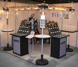 Our titanium jewellery stand at an art fair