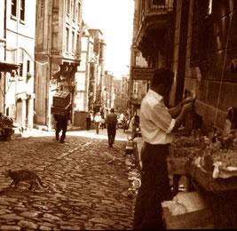 die geplasterten Strassen in Stambul