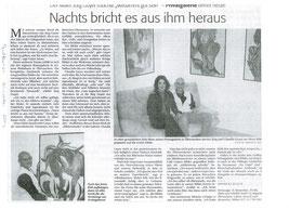 """Pressebericht Südkurier """"Nachts bricht es aus ihm heraus"""""""
