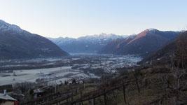 La Val d'Ossola alle prime luci del giorno